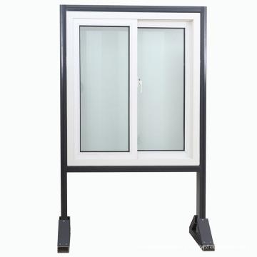 Fenêtre en plastique adaptée aux besoins du client de PVC d'UPVC / PVC / fenêtre coulissante avec la moustiquaire