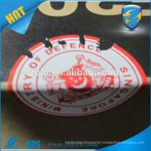 Professional Manufacturer anti-counterfeit custom logo eggshell label