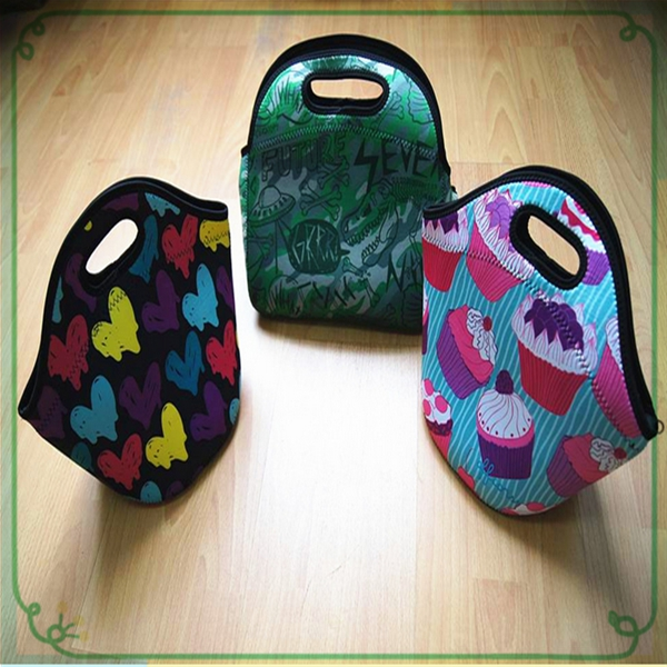 Fashionable Reusable Neoprene Lunch Bag