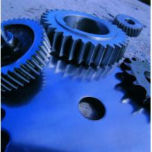 Rueda de engranaje de forja de acero al carbono de metal de gran diámetro