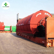 Waste Oil Distillation to good quality diesel with yellow color