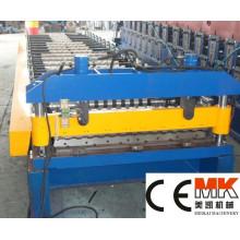 Galvanisierte gewölbte Metallstahldachplatte, die Maschinen- / Dach-Blatt-Rolle bildet Maschine bildet