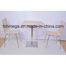 Fireproof Board Modern Dining Table and Chair (FOH-NCP20)