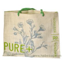 Stilvolle, maßgeschneiderte Jute-Einkaufstasche (HBJU-41)