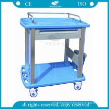 AG-CT010A3 material ABS ABS portátil carro clínico médico