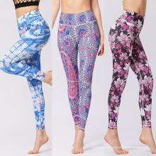 Calças de Yoga de impressão digital para mulheres
