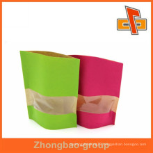 Food grade plastic lined pantone color printing kraft paper bag