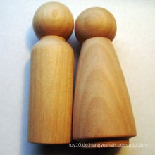 Unfertige DIY kundenspezifische hölzerne Mini Kokeshi Stöpsel Puppen