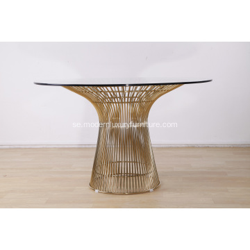 Modern Gold Wire Warren Platner Matbord Replica