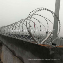Spiral razor barbed wire anping factory galvanized razor wire BTO22 concertina razor wire