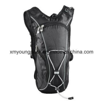 Black Lightweight Nylon Hydration Back Pack Hydration Bag