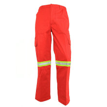 High visibility orange safety work pants
