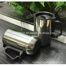 Tasse de café de voyage d'acier inoxydable avec la poignée (CL1C-M102)