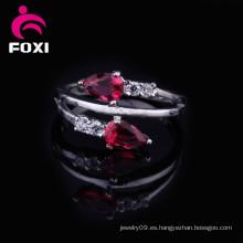 La joyería caliente 2016 Rose de la manera de la venta plateó los anillos de bodas