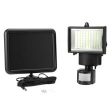 Impermeable inalámbrico de montaje en pared de iluminación actualizado Super brillante 60 LED de exterior Sensor de movimiento solar de luz