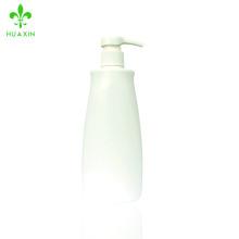 Botella plástica blanca de la loción del baño de la botella del champú del PE de las ventas de calor impresa aduana