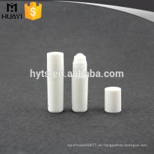 5ml Großhandelskosmetische leere klare Mini-Plastikrolle auf Flasche für ätherisches Öl