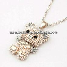 2013 Vente en gros Bijoux en perles pendentifs en vrac Pearl Little Bear JN35