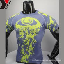 2017 ODM camisa de compresión en blanco al por mayor colorido uniforme de la escuela de diseño personalizado buenos uniformes de compresión sublimada