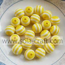 Yellow Stripe 10MM 500Pcs Lovely Charm Nigeria Wholesale Decorative Curtains Shamballa African Wedding Swarovski Crystal Beads