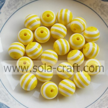 Fashion Jewelry 8MM 500Pcs Yellow Stripe Agate Onyx Gemstone Spacer Round Loose Bead