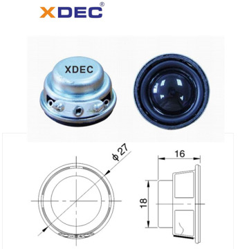 27mm  4ohm portable  speaker