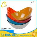 "Practical unbreakable plastic 10.5"" dinner bamboo fruit bowl"