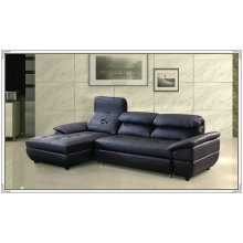 Color azul de cuero sofá, sofá del Recliner, muebles caseros (M329)