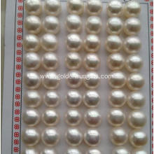 10.5-11MM High-Lights Freshwater Button Real Pearl Beads