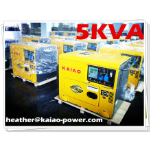 KDE6500T /AC Single and Three Phase 5kw Key Start Silent Portable Silent Diesel Generator for Home and Office
