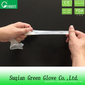 Прозрачные дешевые перчатки CPE Stretch