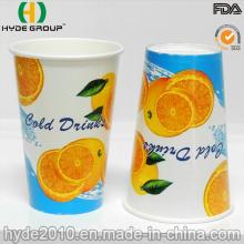 12 oz tasse en papier jetables de boisson froide