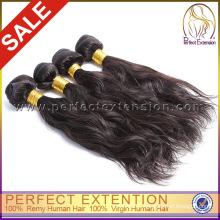 Необработанные дешевые 5А перуанский девственница хвост натуральные волосы