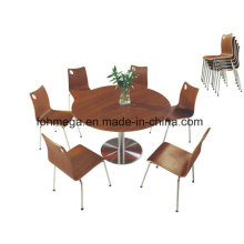Hotselling Big Round Dining Table with Stainless Steel Legs (FOH-BC30)