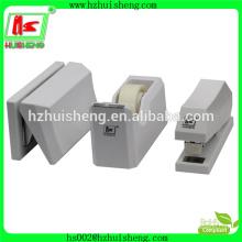 office funny stationery set tape dispenser with stapler