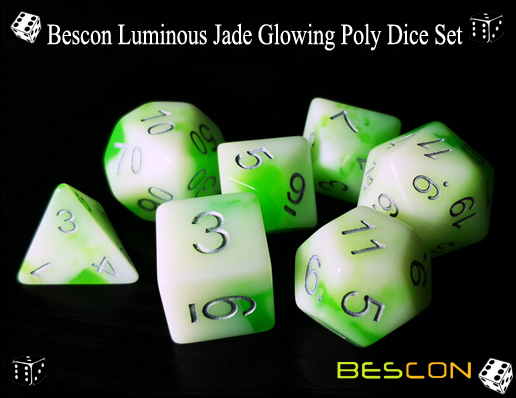 Bescon Luminous Jade Glowing Poly Dice Set-1