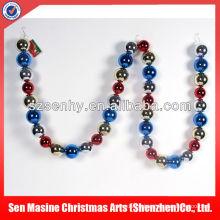 Plastic ball string 2013 navidad decoración y regalo fábrica
