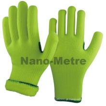 NMSAFETY fralda acrílico malha inverno mão quente luvas de trabalho