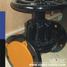 Saunders Weir Cl125/ANSI 125# Flanged Rfxff A126 B Iron Diaphragm Valve