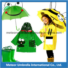 Lovely Animals Straight Children Cartoon Umbrella