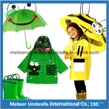 Fancy Designed Promotional Animal Match Kids/ Children Rain Umbrella