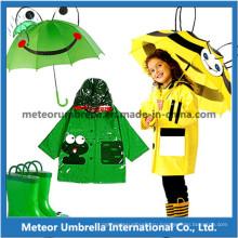 Причудливый Разработанный Продвигающий Животный Матч Дети / Дети Зонт дождя