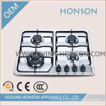 Design de moda quatro queimador de alta qualidade construído em fogão a gás