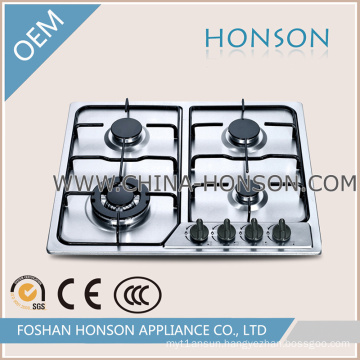 4 Burners Stainless Steel Gas Hob for Kitchenware