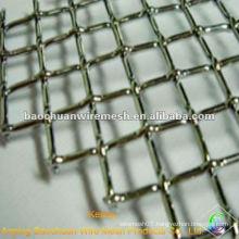 Silver anti-corrosion crimped wire mesh panel