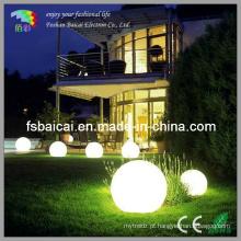 Bola forma luz LED para piscina jardim exterior