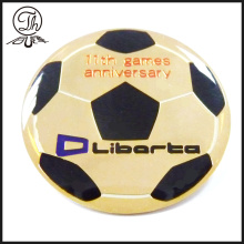 Epoxy coating Soccer pin badge