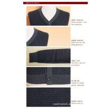 Yak Wolle / Cashmere V-Ausschnitt Strickjacke Langarm Pullover / Strickwaren / Bekleidung / Kleidung
