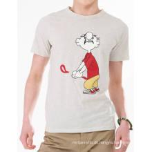 Lustige Karikatur gedruckte Art- und Weisemann-Großhandelskundenspezifisches Baumwollsommer-T-Shirt
