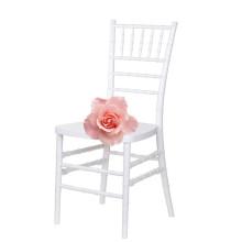 Cadeira de Tiffany da resina branca do casamento do litoral para o evento comercial